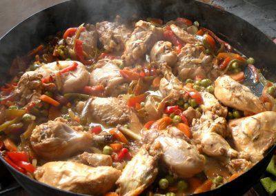 Pollo-al-disco